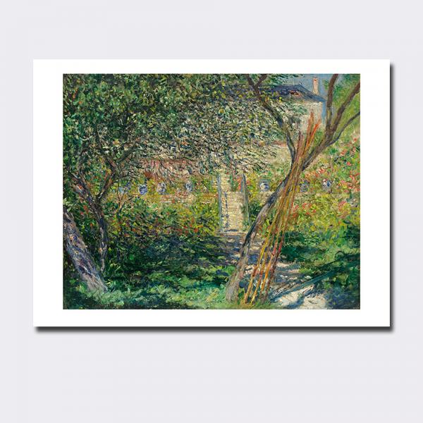 Kunstdruck . MONET . Garten von Vétheuil