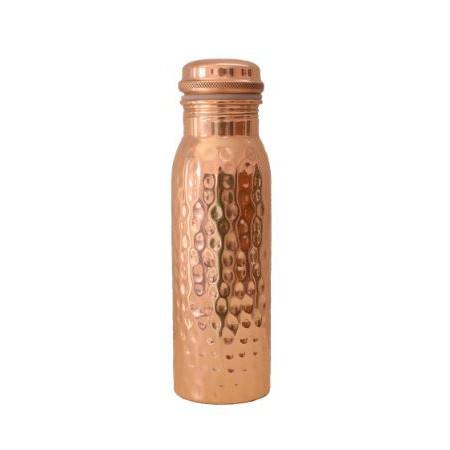 Wasserflasche . FORREST & LOVE . Kupfer, gehämmert . 600ml
