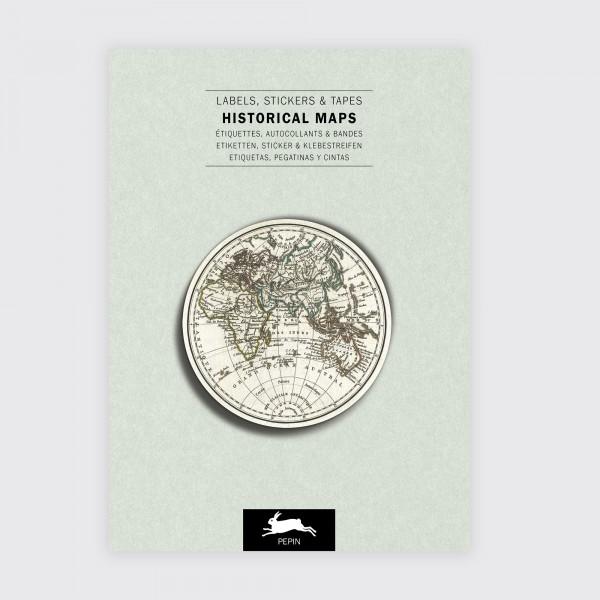 Stickerbuch . HISTORISCHE KARTEN