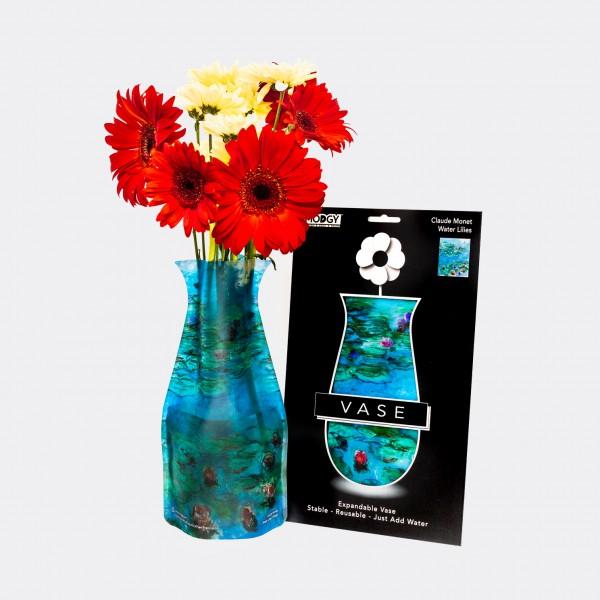 WATERLILIES BLUE . MONET . Vase