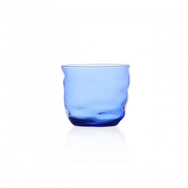 Glas . POSEIDON . dunkelblau