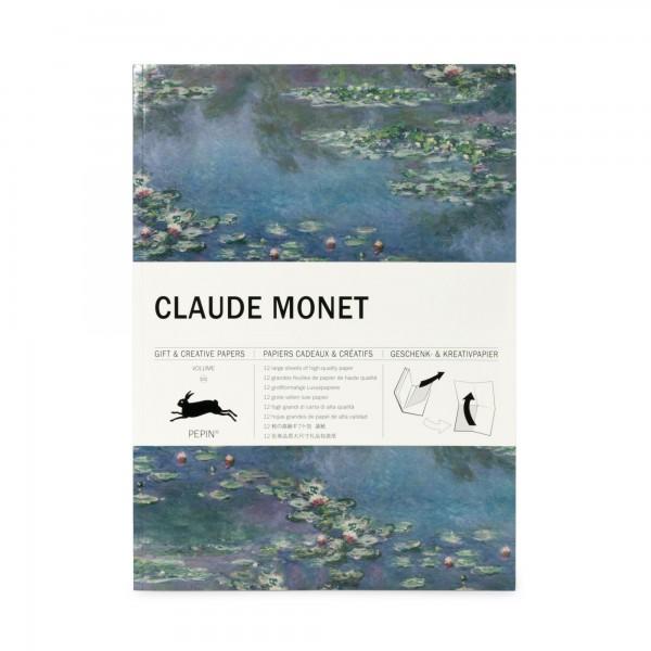 Geschenkpapierbuch . MONET