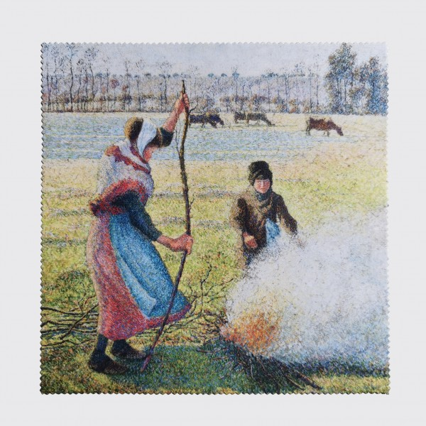 IMPRESSIONISMUS . PEASANT GIRL . glasses cleaning cloth