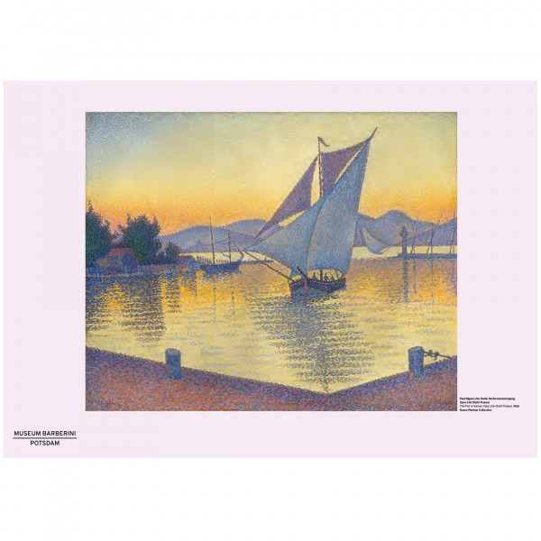 PST 53 Signac Hafen Port at Sunset Poster