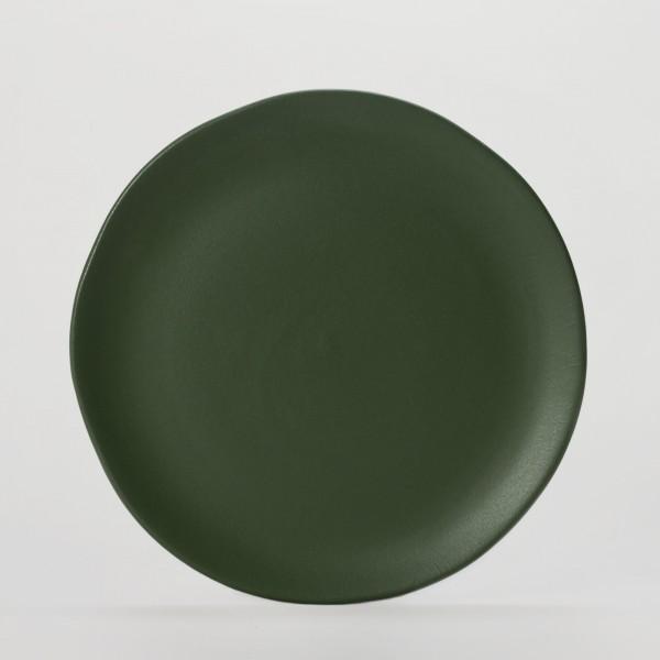 Teller . JARDIN DE MAGUELONE . 20cm tannengrün