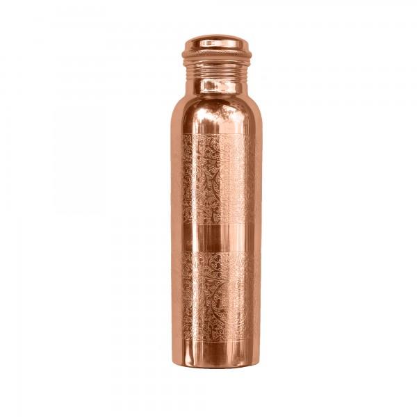 Wasserflasche . FORREST & LOVE . Kupfer, graviert . 900ml