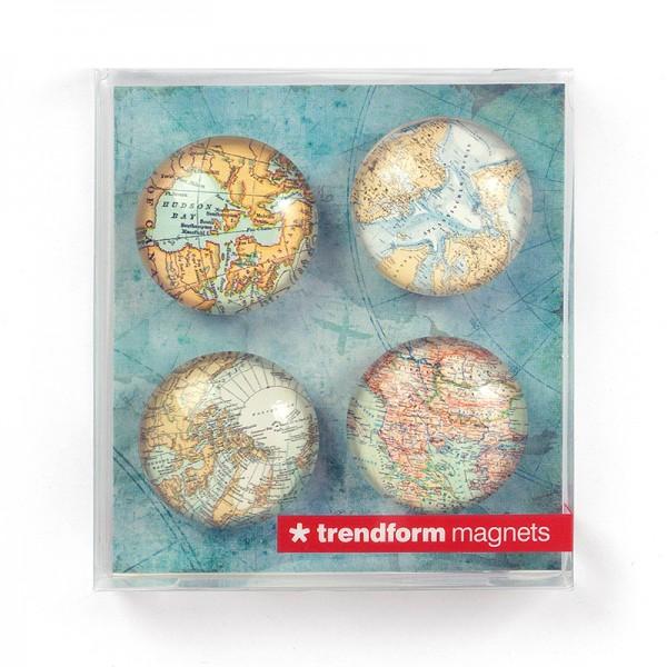 Magnet Set of 4 . TRENDFORM . maps