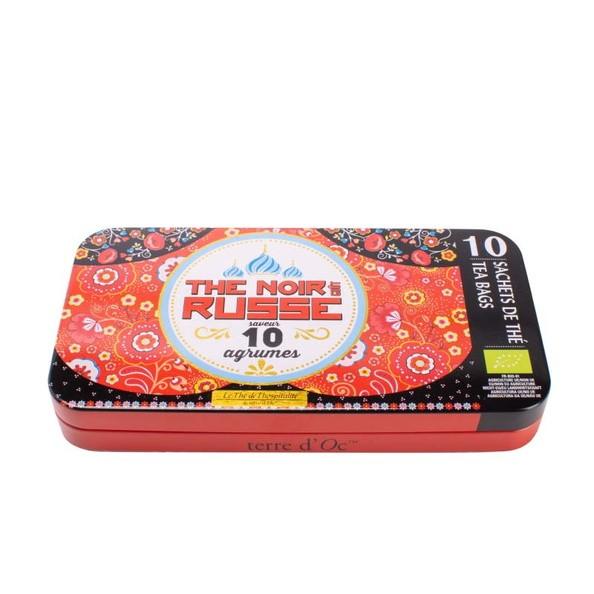 Tea . TERRE D'OC . Metal box with 10 teabags