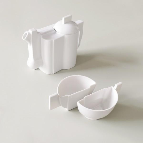 Set . MALEWITSCH . Teekanne + 2 Teetassen