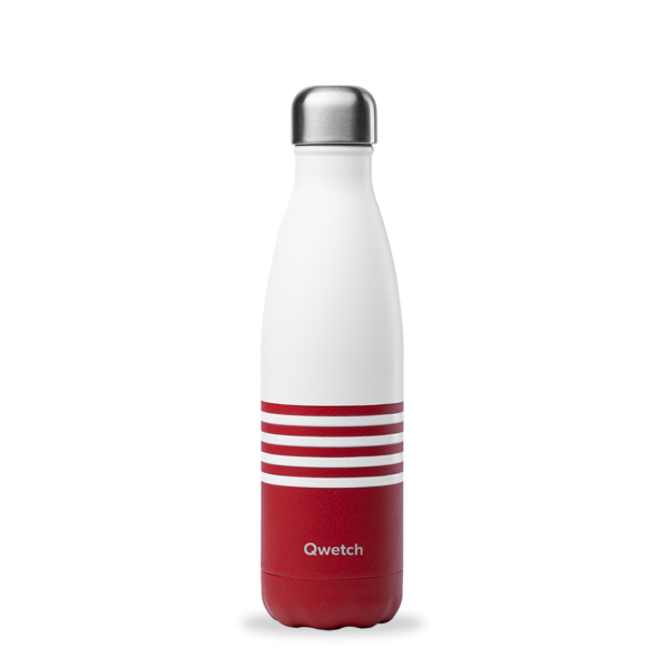 Thermosflasche . QWETCH . Sailor rot