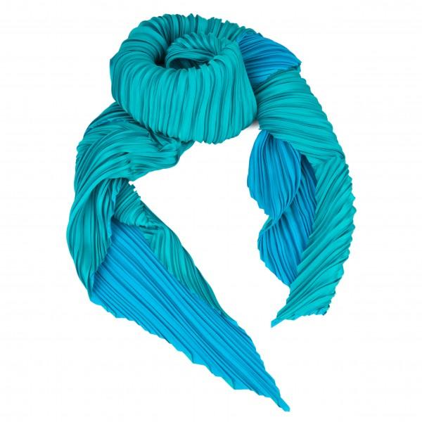 Schal . PLISSEE FOULARD . blue